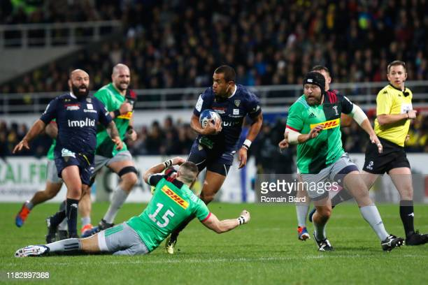 Peter BETHAM of Clermont during the European Rugby Champions Cup, Pool 3 match between ASM Clermont Auvergne and Harlequin FC on November 16, 2019 in...