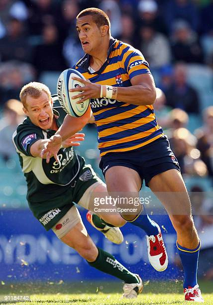 Peter Betham of Sydney University makes a break during the Shute Shield Grand Final match between Sydney University and Randwick at Sydney Football...