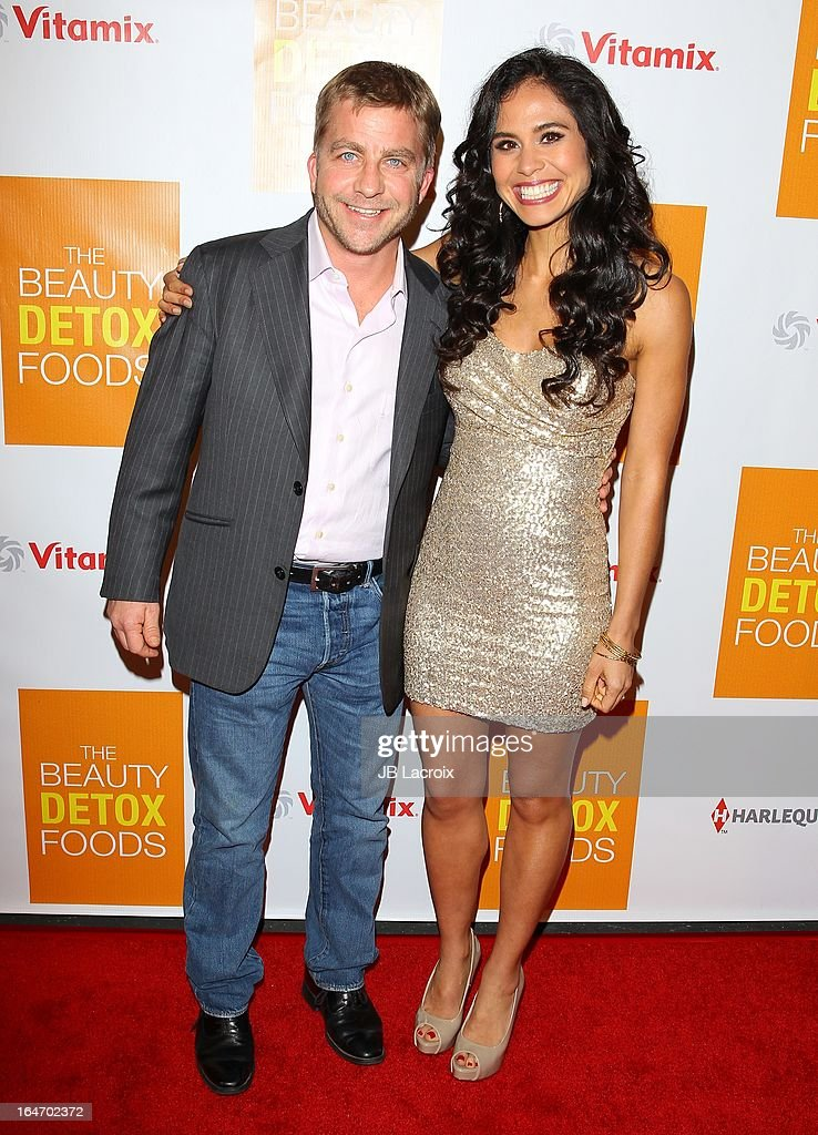Peter Billingsley and Kimberly Snyder attend the book launch party for 'The Beauty Detox Foods' at Smashbox West Hollywood on March 26, 2013 in West Hollywood, California.