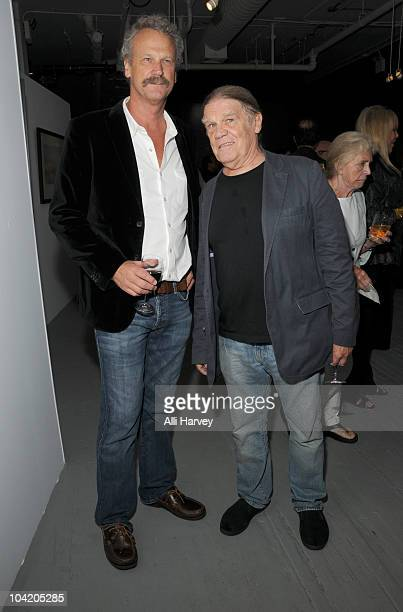 Peter Blachley and Henry Diltz attend Julian Lennon's Timeless photography exhibition opening party at the Morrison Hotel Gallery on September 16...