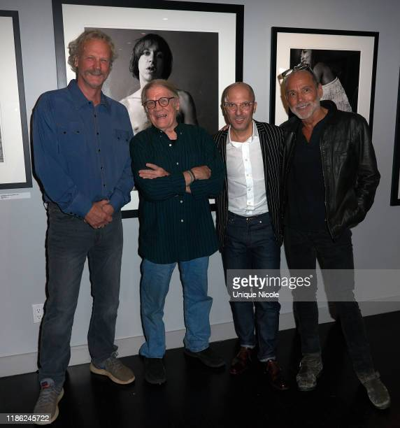 Peter Blachley Henry Diltz Ivan Shaw and Timothy White attend Conde Nast Collection Event at Morrison Hotel Gallery on November 07 2019 in West...