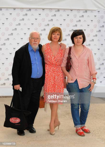 Peter Blake[L] attends the Summer fundraising party for The Old Vic Theatre at Battersea Power station on July 1, 2010 in London, England.