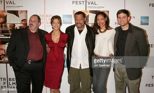 Peter Block president of acquisitions for Lionsgate Touriya Haoud Laurence Fishburne Gina Torres and Jason Constantine senior vice president of...