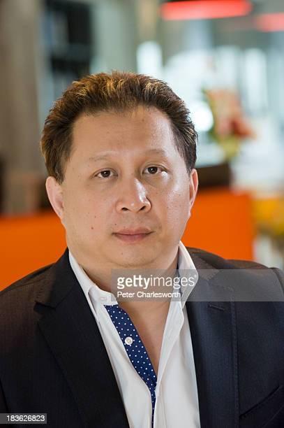 Peter Bodharamik, CEO of Jasmine International in his office in Bangkok..