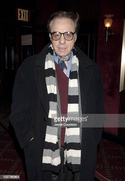 Peter Bogdanovich during 'Memoirs of a Geisha' New York City Premiere Inside Arrivals at Ziegfeld Theater in New York City New York United States