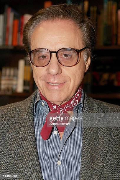 """Peter Bogdanovich poses for pictures during the signing of his book, """" Who's The Hell In It:Portraits & Conversations"""" at Barnes & Noble in Union..."""