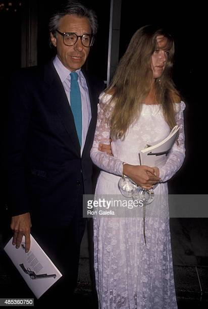 Peter Bogdanovitch and Louise Stratten attends Golden Boot Awards on July 28 1990 at the Century Plaza Hotel in Century City California
