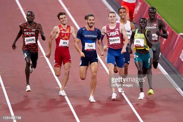 Peter Bol of Australia, Clayton Murphy of USA, Gabriel Tual of France, Adrian Ben of Spain, Daniel Rowden of Great Britain, Michael Saruni of Kenya,...