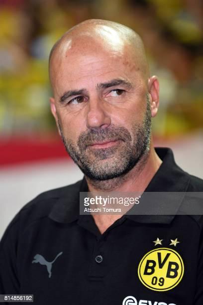 Peter Bosz head coach of Borussia Dortmund looks on during the preseason friendly match between Urawa Red Diamonds and Borussia Dortmund at Saitama...