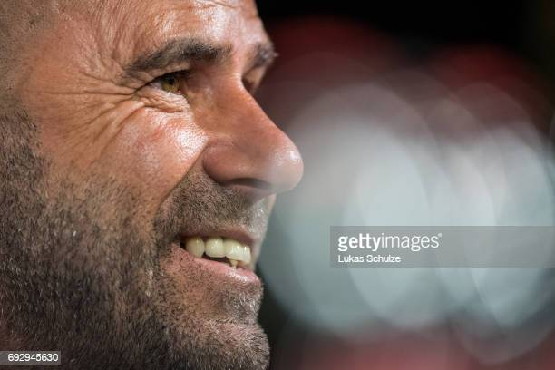 Peter Bosz the new head coach of Borussia Dortmund attends a press conference at Signal Iduna Park on June 6 2017 in Dortmund Germany