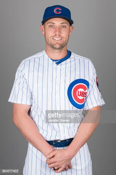 Peter Bourjos of the Chicago Cubs poses during Photo Day on Tuesday February 20 2018 at Sloan Park in Mesa Arizona