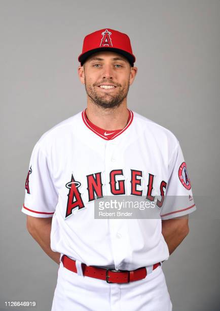 Peter Bourjos of the Los Angeles Angels poses during Photo Day on Tuesday February 19 2019 at Tempe Diablo Stadium in Tempe Arizona