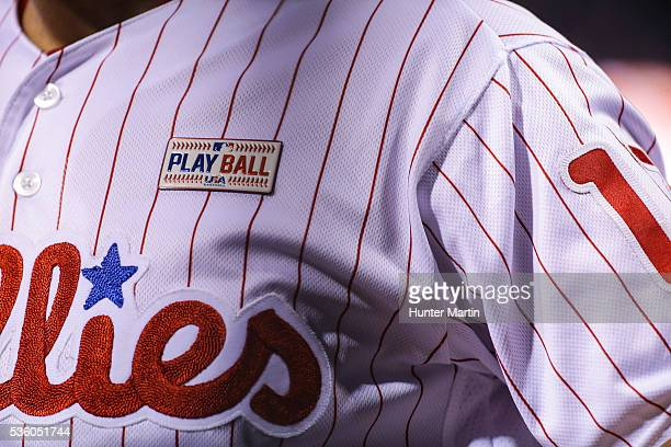 Peter Bourjos of the Philadelphia Phillies during a game against the Cincinnati Reds at Citizens Bank Park on May 14 2016 in Philadelphia...