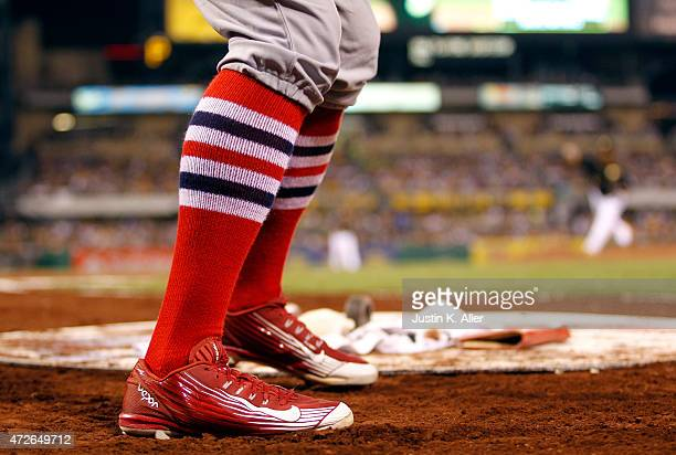 Peter Bourjos of the St Louis Cardinals on deck during the game against the Pittsburgh Pirates at PNC Park on May 8 2015 in Pittsburgh Pennsylvania