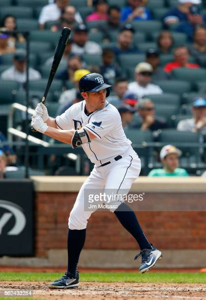 Peter Bourjos of the Tampa Bay Rays in action against the New York Yankees at Citi Field on September 13 2017 in the Flushing neighborhood of the...