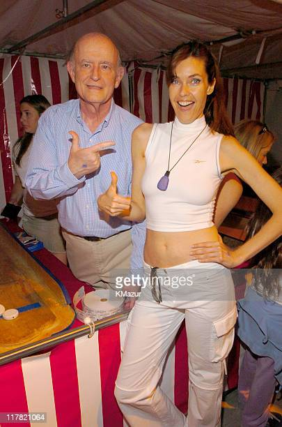 Peter Boyle and Carol Alt during 11th Annual Kids for Kids Celebrity Carnival to Benefit the Elizabeth Glaser Pediatric AIDS Foundation Inside at...