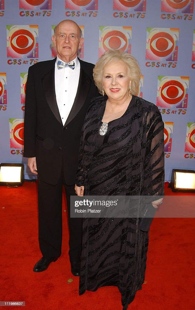 Peter Boyle and Doris Roberts during CBS at 75 - Commemorating CBS'S 75th Anniversary - Arrivals at The Hammerstein Theater in New York City, New York, United States.