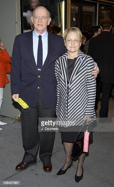 Peter Boyle and Loraine Boyle during Opening Night of Jumpers Arrivals at Brooks Atkinson Theater in New York City New York United States