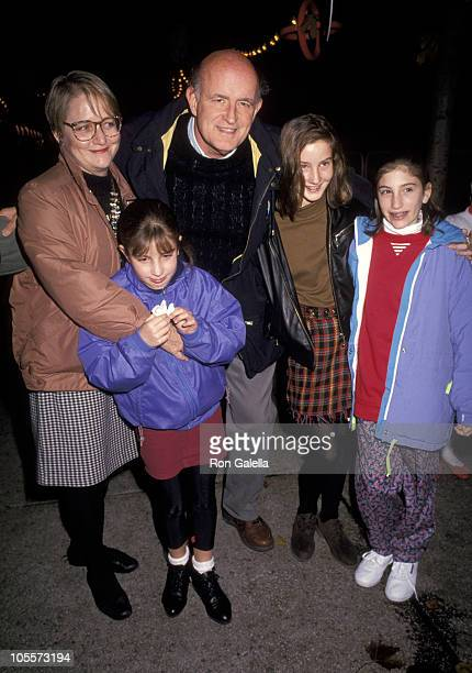 Peter Boyle Wife Loraine Alterman And Family during Big Apple Circus November 6 1992 at Demeris Field at Lincoln Center in New York City New York...