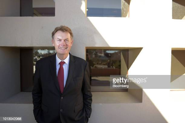 Peter Bradford, chief executive officer of Independence Group NL, poses for a photograph at the annual Diggers and Dealers conference in Kalgoorlie,...