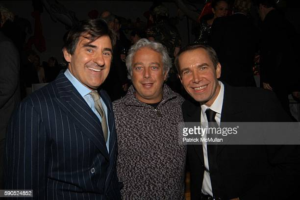Peter Brant Aby Rosen and Jeff Koons attend 50th Birthday Celebration for Jeff Koons at Jeffrey Deitch Gallery on January 21 2005 in New York City