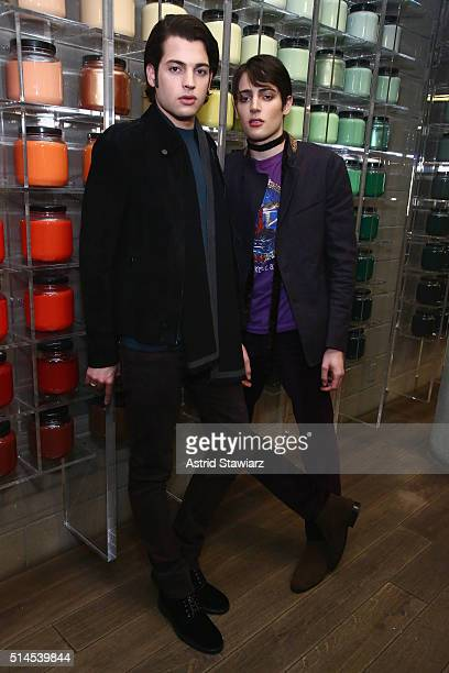 Peter Brant and Harry Brant debut their new M.A.C. Cosmetics collection at M.A.C. Pro Store on March 9, 2016 in New York City.
