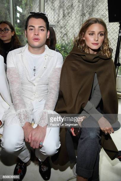 Peter Brant and Olivia Palermo attend the Giambattista Valli show as part of the Paris Fashion Week Womenswear Spring/Summer 2018 on October 2 2017...