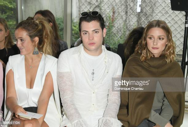 Peter Brant and Olivia Palermo attends the Giambattista Valli show as part of the Paris Fashion Week Womenswear Spring/Summer 2018 on October 2 2017...
