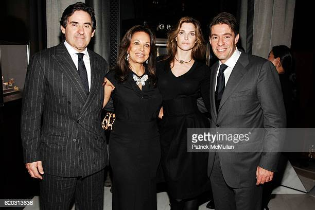 Peter Brant Anne Marie Graff Stephanie Seymour Brant and Francois Graff attend GRAFF Flagship Salon Opening hosted by LAURENCE GRAFF at Graff...