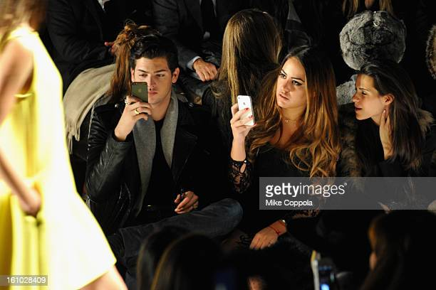 Peter Brant II and Yvette Prieto attend the Rebecca Minkoff Fall 2013 fashion show during MercedesBenz Fashion at The Theatre at Lincoln Center on...