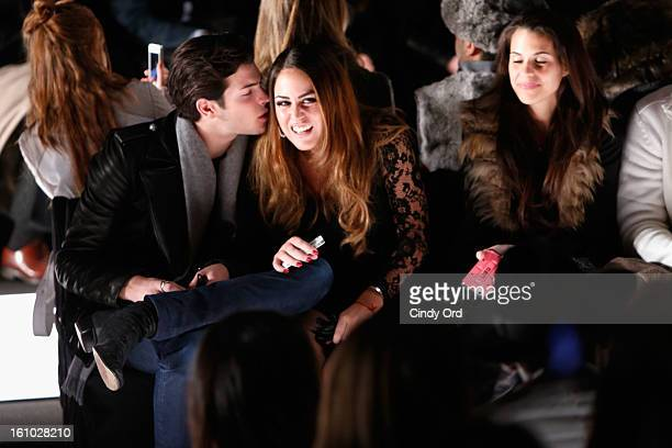 Peter Brant II and Yvette Prieto attends the Rebecca Minkoff Fall 2013 fashion show during MercedesBenz Fashion at The Theatre at Lincoln Center on...