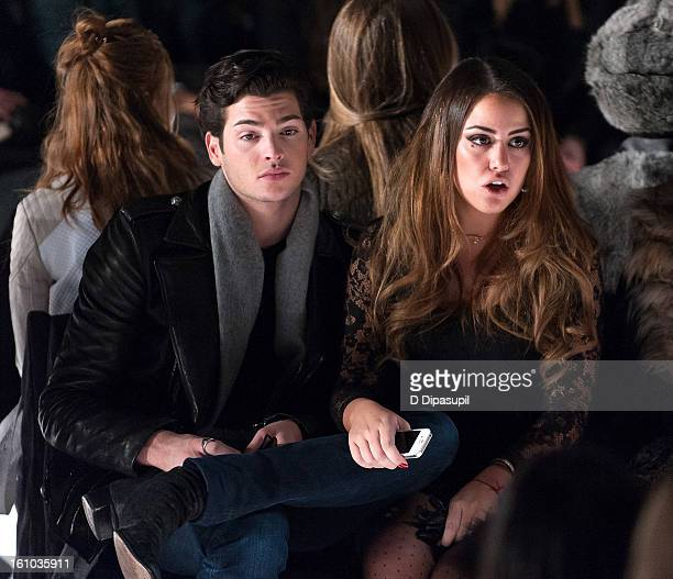 Peter Brant Jr and Yvette Prieto attend the Rebecca Minkoff Fall 2013 MercedesBenz Fashion Show at The Theater at Lincoln Center on February 8 2013...