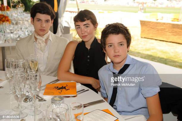 Peter Brant Jr Mercedes Kilmer and Harry Brant attend 2010 VEUVE CLICQUOT Polo Classic at Governors Island on June 27 2010 in New York City