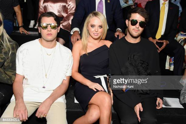 Peter Brant Jr Tiffany Trump and Andrew Warren attend the Taoray Wang fashion show during New York Fashion Week The Shows at Gallery 1 Skylight...