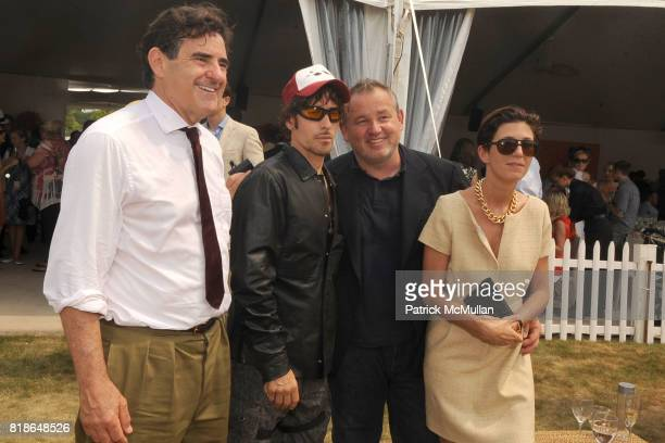 Peter Brant Steven Klein Fabien Baron and Ludivine Poiblanc attend 2010 VEUVE CLICQUOT Polo Classic at Governors Island on June 27 2010 in New York...