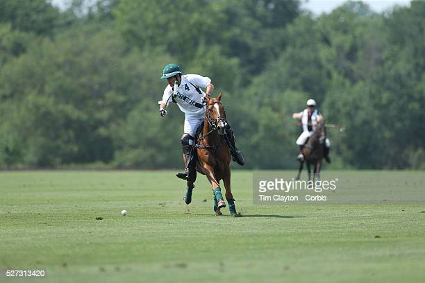 Peter Brant White Birch in action during the White Birch Vs KIG Polo match in the Butler Handicap Tournament match at the Greenwich Polo Club White...