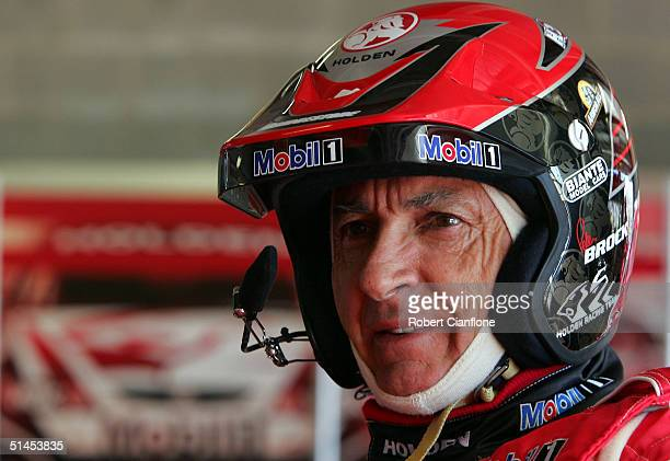 Peter Brock of the Holden Racing Team prepares for the morning practice session prior to qualifying for the Bathurst 1000 which is round ten of the...