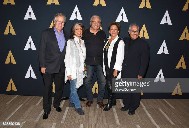 Peter Burrell Rose Portillo Edward James Olmos Alma Martinez and Luis Valdez attend the Academy Museum of Motion Pictures Screens 'Zoot Suit' at...