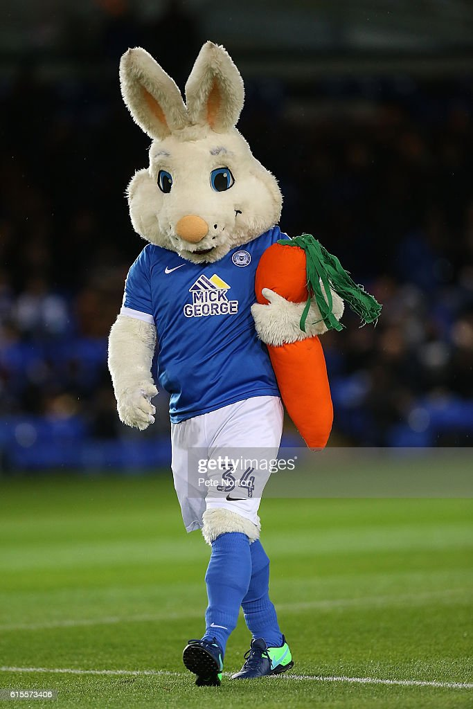 Peter Burrow the Peterborough United mascot prior to the Sky Bet League One match between Peterborough United and Northampton Town at ABAX Stadium on October 18, 2016 in Peterborough, England.