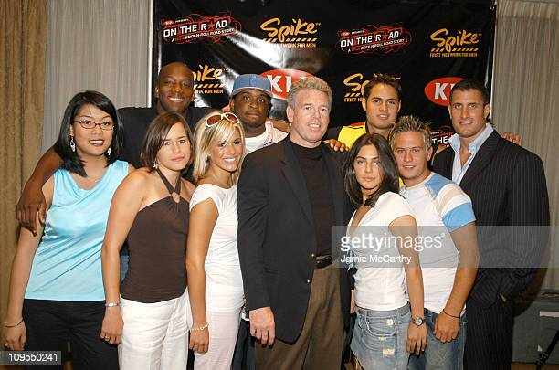 Peter Butterfield and Lee Trink with Contestants during Kia and Spike TV Press Conference with Sugar Ray to Launch On The Road A True Rock N Roll...
