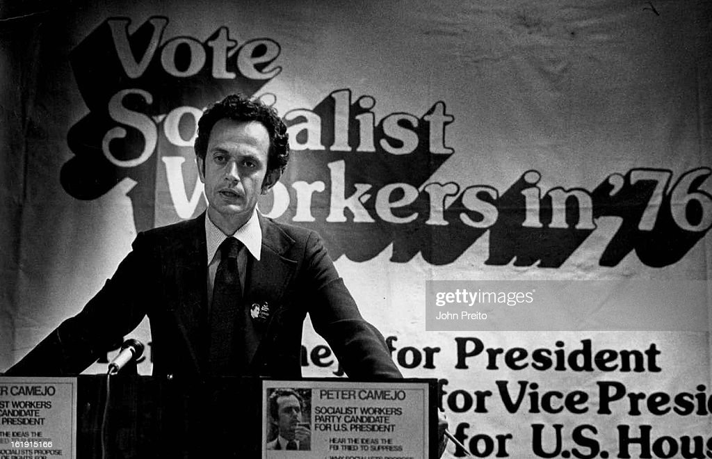 SEP 24 1976, SEP 25 1976, OCT 8 1976; Peter Camejo, Candidate of the Socialist Workers Party, At Press Conference; 'They'll be begging me to join them (at the third Presidential debate) to keep the people awake', Camejo said.;
