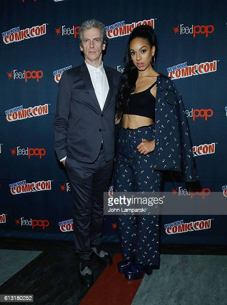 Peter Capaldi and Pearl Mackie attend the Doctor Who panel during the 2016 New York Comic Con day 2 on October 7 2016 in New York City