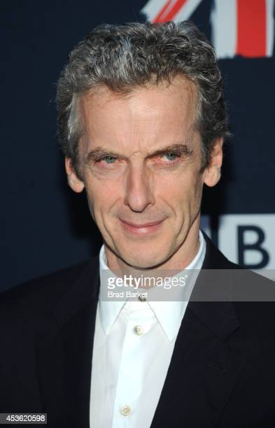 """Peter Capaldi attends BBC America's """"Doctor Who"""" Premiere Fan Screening at Ziegfeld Theater on August 14, 2014 in New York City."""