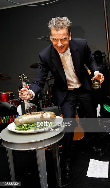 Peter Capaldi attends Burns Night 2011 in aid of Clic Sargent at St Martins Lane Hotel on January 25 2011 in London England