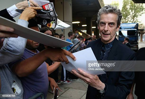 Peter Capaldi attends the 'Doctor Who' London premiere at the BFI Southbank on August 7 2014 in London England