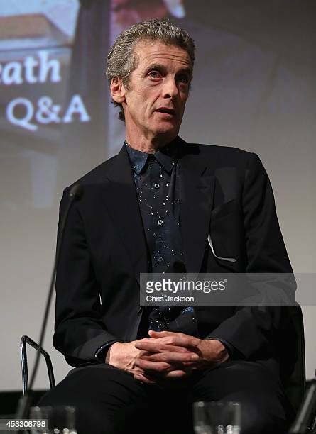 Peter Capaldi attends the 'Doctor Who' London premiere QA at the BFI Southbank on August 7 2014 in London England