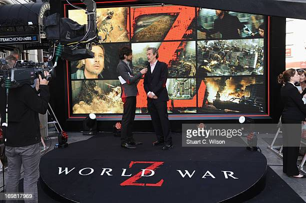 Peter Capaldi attends the World Premiere of 'World War Z' at The Empire Cinema on June 2, 2013 in London, England.