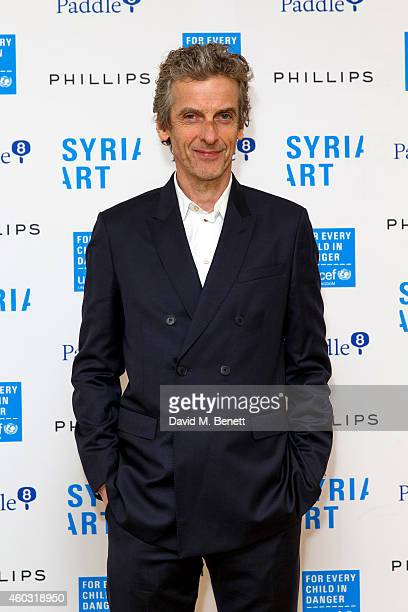 Peter Capaldi attends Unicef UK's SyriART auction as artworks from leading contemporary artists went under the hammer at Phillips Gallery on December...