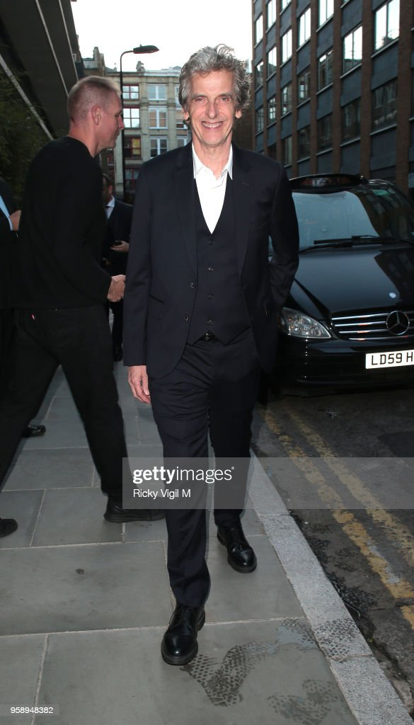 Peter Capaldi seen attending Nobu Hotel Shoreditch - launch party on May 15, 2018 in London, England.