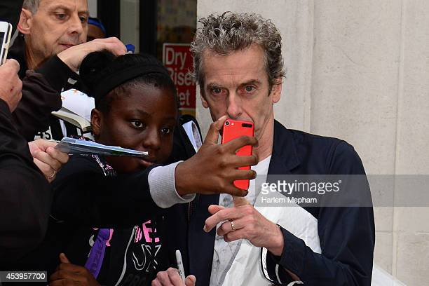 Peter Capaldi sighted outside BBC Radio Two on August 22, 2014 in London, England.